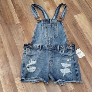 Forever 21 Jean Overall Shorts
